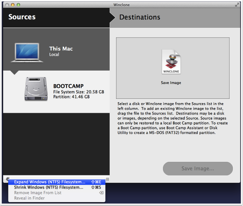 Shrink the Windows File System – Twocanoes Support